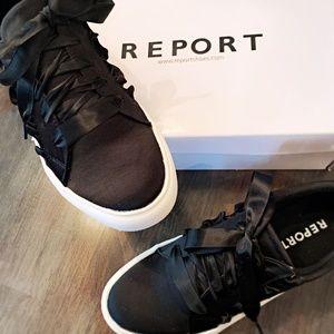 🖤Black Satin Sneaker - NEVER WORN/IN BOX Sz.8.5-9
